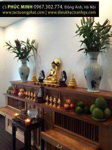 Bài trí tượng Phật tại gia, Phật tử tại Hà Nội