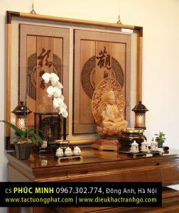 Bài trí tượng Phật tại gia