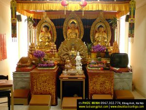 Bài trí tượng Phật tại gia tại TP. HCM