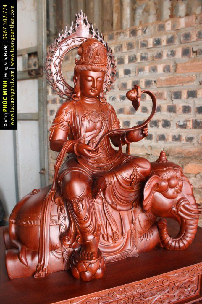 Tôn tượng Phổ Hiền Bồ Tát do Xưởng Phúc Minh dành 6 tháng tạo tác cho Chùa Việt Nam