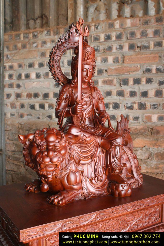 Tôn tượng Văn Thù Sư Lợi do Xưởng Phúc Minh dành 6 tháng tạo tác cho Chùa Việt Nam
